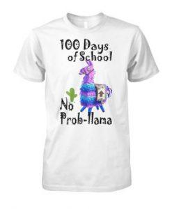 100 days of school fortnite llama shirt