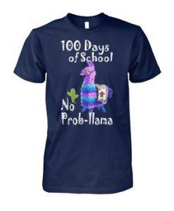 100th days of school fortnite llama shirt