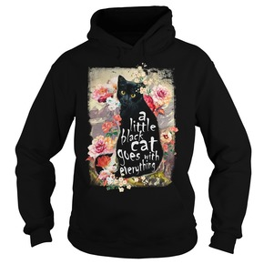 A little black cat goes with everything HOODIE BC19