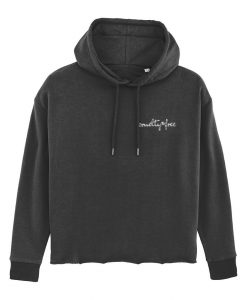 Cruelty-Free - Embroidered Fem-Fit Hoodie
