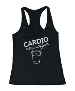 Details about Cardio and coffee Women's Workout Tank Top Gym Tank Sleeveless Top for lady BC19