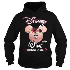 Disney and wine kinda girl Hoodie BC19