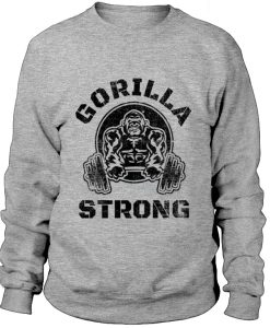 GORILLA STRONG BODYBUILDING Sweatshirt BC19