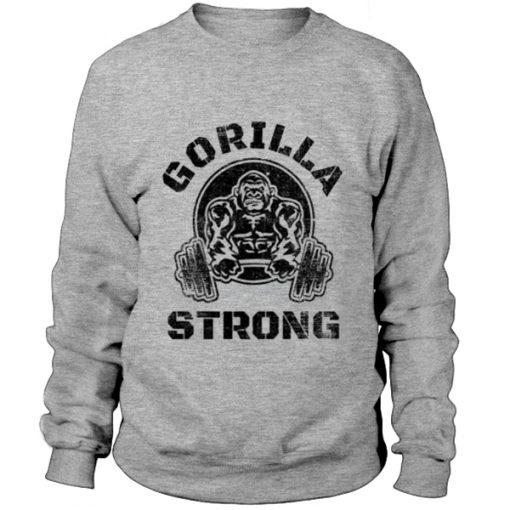 GORILLA STRONG BODYBUILDING Sweatshirt BC19