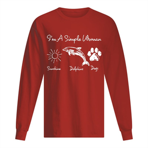 I'm a Simple Woman Who Loves Sunshine, Dolphin And Dogs Paw Sweatshirt BC19