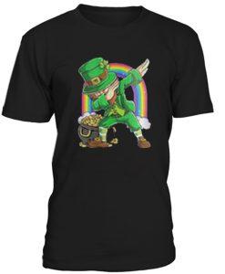 Leprechaun Dabbing Patrick's Day T-Shirt AI22