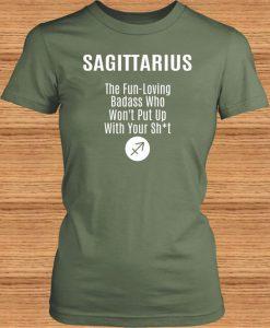Sagittarius Ladies Crewneck T-Shirt BC19