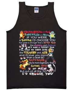 charmander are red pokemon quotes tanktop BC19