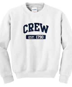 crew est 1790 sweatshirt BC19