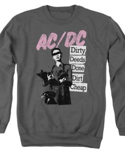 AC/DC Dirty Deeds Done Dirt Cheap Adult Crewneck Sweatshirt Unisex