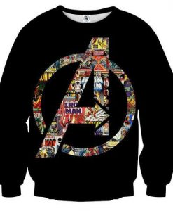 Marvel The Avengers Symbol Iron Man Unique Sweatshirt