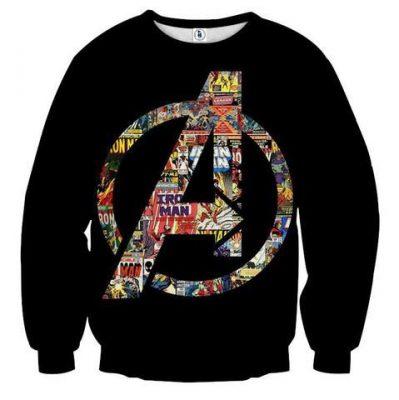 Marvel The Avengers Symbol Iron Man Unique Sweatshirt