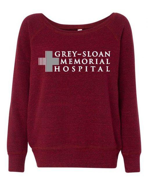 Grey Sloan Memorial Hospital Womens Wideneck Sweatshirt