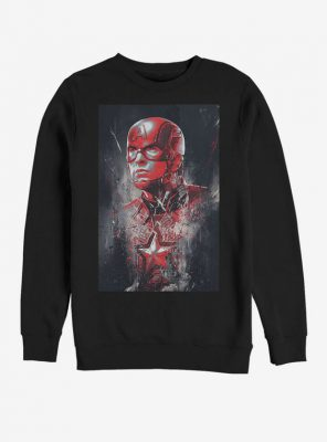 Marvel Avengers Endgame Captain America Painted Sweatshirt