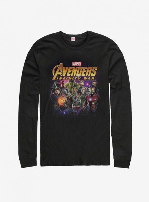 Marvel Avengers: Infinity War Character Shot Long Sleeve T-Shirt