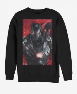 Marvel Avengers Endgame War Machine Painted Sweatshirt