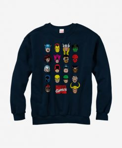 Marvel Comic Book Faces Sweatshirt