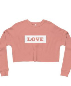 Crop Sweatshirt-Love