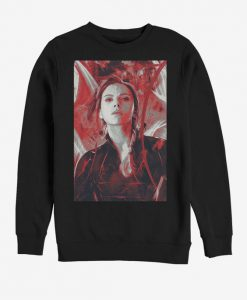 Marvel Avengers Endgame Black Widow Red Painted Sweatshirt