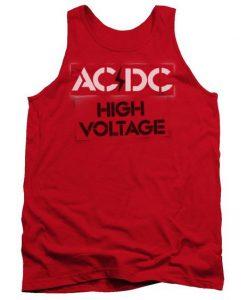 ACDC High Voltage Stencil Men's Tank Top BC19