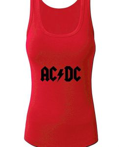 ACDC LOGO women's Summer Tank Tops Red Small BC19