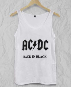 ACDC back in black Adult tank top BC19