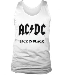 ACDC back in black tank top BC19