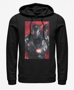 Marvel Avengers Endgame War Machine Painted Hoodie bc19