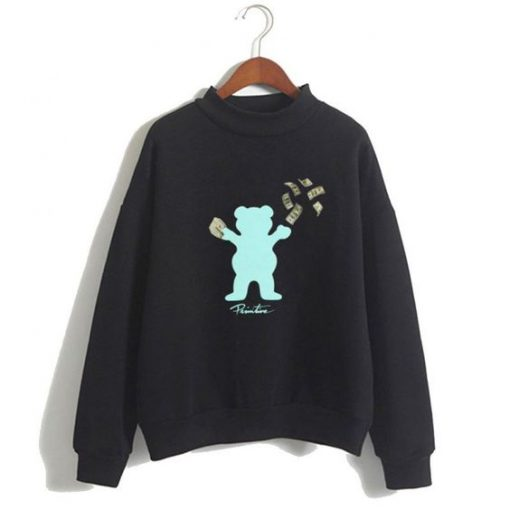 Grizzly Bear Pullover Sweatshirt ZK01