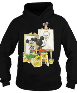 Mickey Mouse draws Walt Disney Hoodie AD01