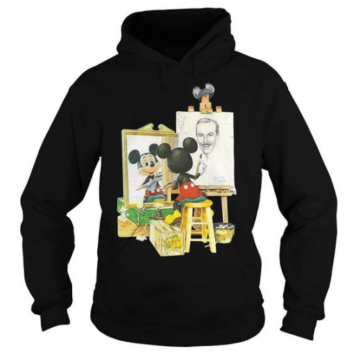 Mickey Mouse draws Walt Disney Hoodie AD01