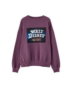 Purple Walt Disney Presents Sweatshirt SN01