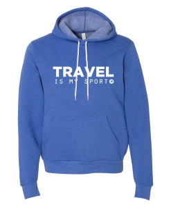 Travel is My Sport Royal Hoodie AD01