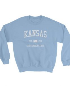 Vintage Kansas Blue Sweatshirt AD01