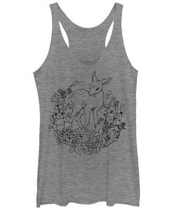 Women's - Fawn with Flowers Tank Top EC01