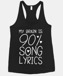 90% Song Lyrics Tanktop ZK01