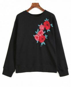 Black Floral Sweatshirt AD01