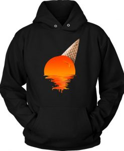 Sunset Ice Cream Artistic Hoodie EC01