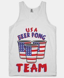 USA Beer Pong Tanktop ZK01