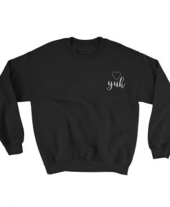Yuh Embroidered Sweatshirt AD01