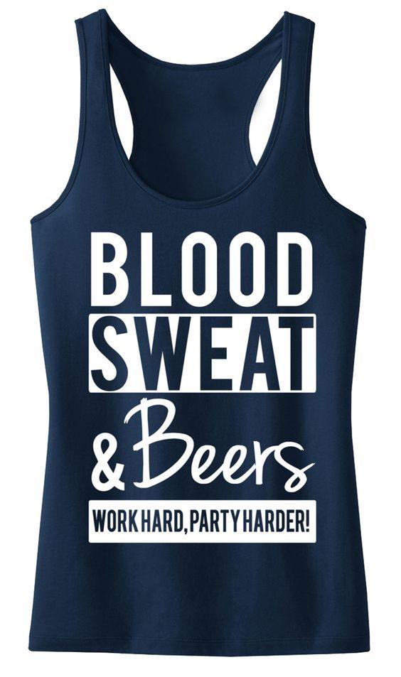 Blood Sweat Tank Top SR01