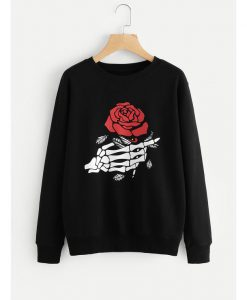 Bone and Rose Sweatshirt GT01