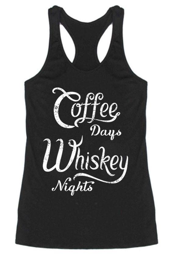 Coffe & Whiskey Tank Top SR01