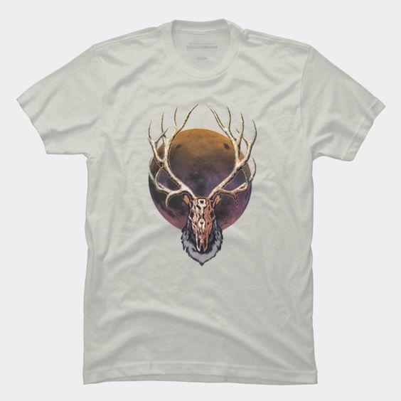 Full moon reindeer T-Shirt EC01