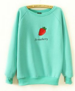 Strawberry Embroideried Sweatshirt EL01