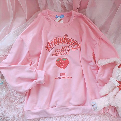 Strawberry Milk Sweatshirt EL01