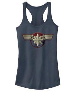 Captain Marvel Costume Logo Tank Top FD01