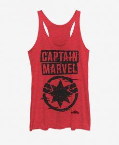 Captain Marvel Painted Logo Tank Top FD01