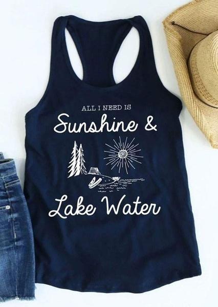 Sunshine And Lake Water Tank Top EL01