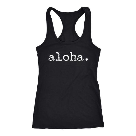 Aloha Black Tank Top EM01